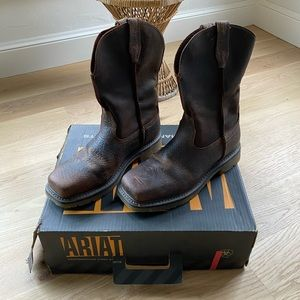 ARIAT steel toe rambler pull on work boot